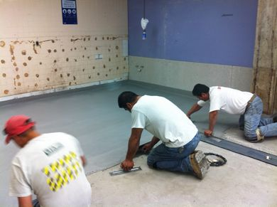 replacing old worn out restaurant kitchen floor tile with urethane